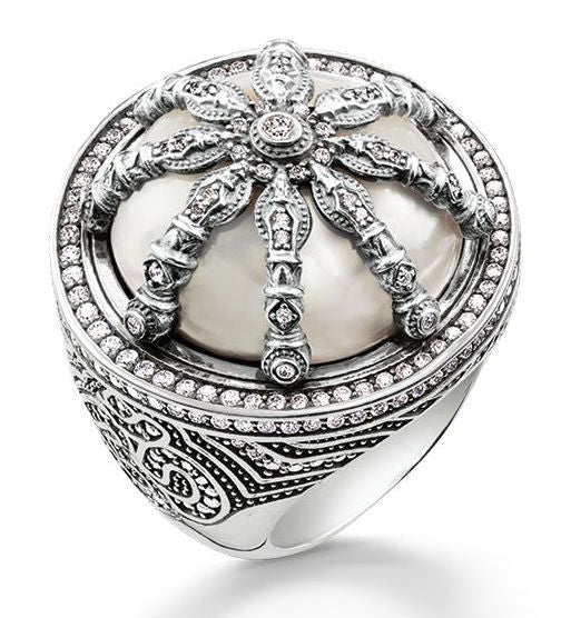 Thomas Sabo Ring Karma Beads Wheel of Karma Silver S