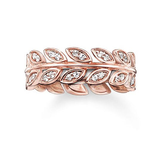 Thomas Sabo Ring Glam And Soul Leaves Rose Gold