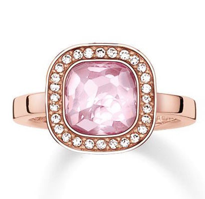 Thomas Sabo Ring Glam & Soul Secret of Cosmo Pink Synthetic Corundum Rose Gold D