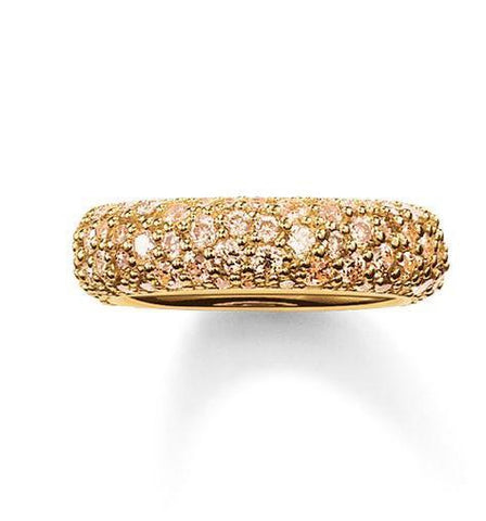 Thomas Sabo Ring Glam & Soul Eternity Yellow Gold