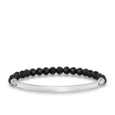 Thomas Sabo Bracelet Love Bridge Black Obsidian Silver 16cm
