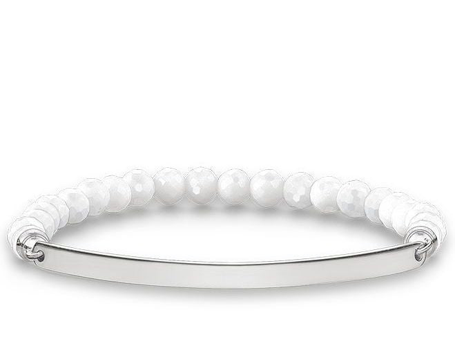Thomas Sabo Bracelet Love Bridge White Agate Silver 16cm