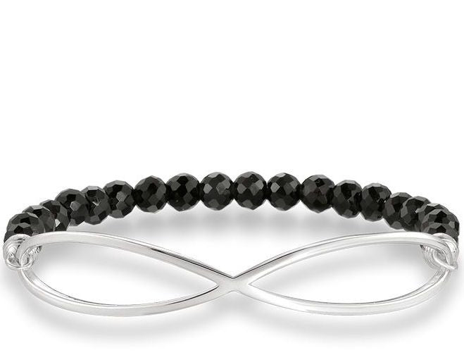 Thomas Sabo Bracelet Love Bridge Black Obsidian Silver 17.5cm