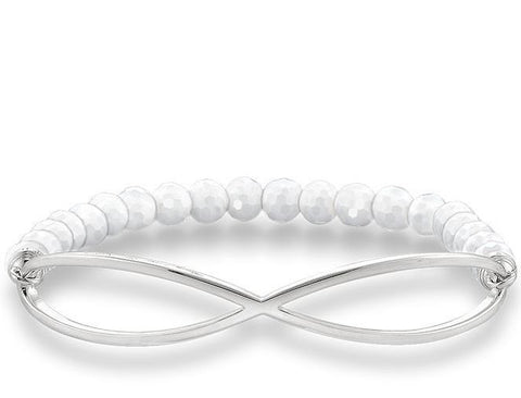 Thomas Sabo Bracelet Love Bridge White Agate Silver 17.5cm