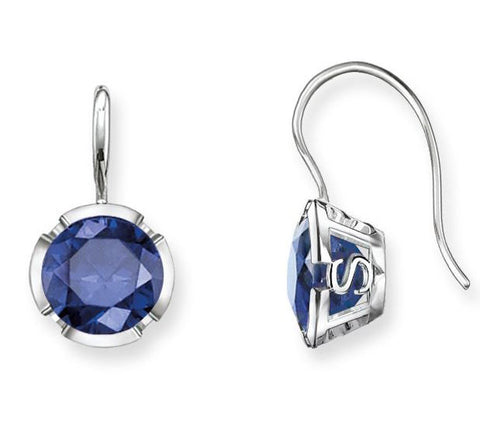 Thomas Sabo Earrings Glam & Soul Dark Blue Corundum Silver