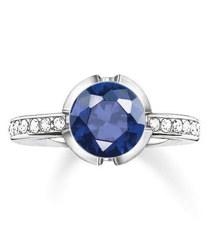 Thomas Sabo Ring Glam & Soul Dark Blue Corundum Silver