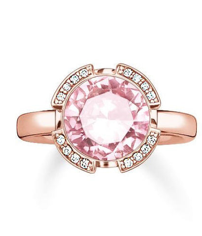 Thomas Sabo Ring Glam & Soul Pink Corundum Rose Gold