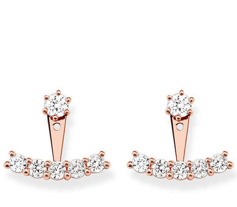 Thomas Sabo Earrings Glam & Soul White Zirconia Rose Gold