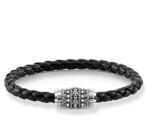 Thomas Sabo Bracelet Rebel At Heart Leather Skull 21cm