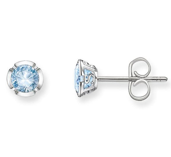 Thomas Sabo Earring Glam & Soul Light Blue Spinel Studs Silver