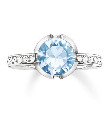 Thomas Sabo Ring Glam & Soul Light Blue Spinel Silver