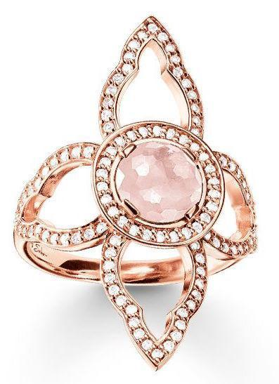 Thomas Sabo Ring Glam & Soul Fatimas Garden Rose Quartz Rose Gold