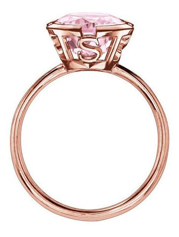 Thomas Sabo Ring Glam & Soul Hot Pink Synthetic Corundum Rose Gold