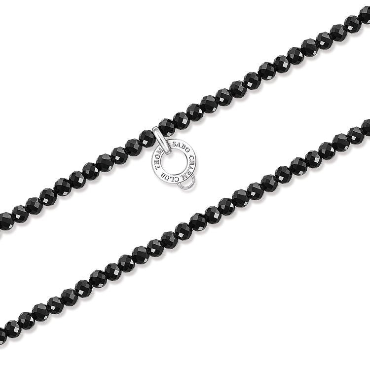 Thomas Sabo Necklace Black Obsidian Silver D