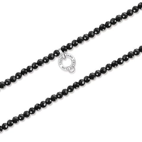Thomas Sabo Necklace Black Obsidian Silver