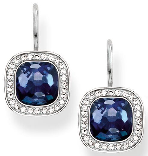 Thomas Sabo Earrings Glam & Soul Blue Synthetic Corundum Silver