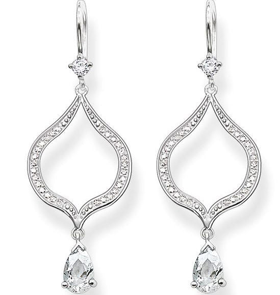 Thomas Sabo Earrings Glam & Soul Purity of Lotos White Zirconia Silver
