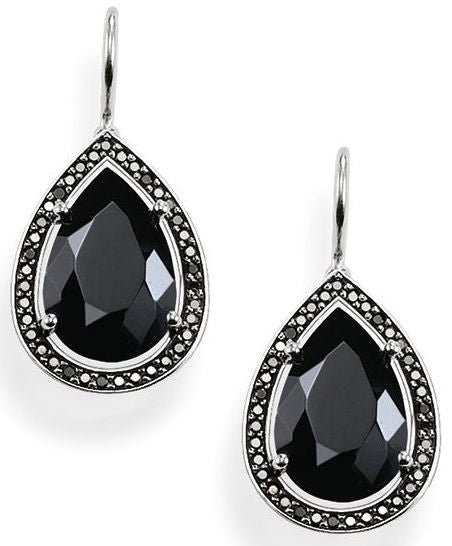 Thomas Sabo Earrings Glam & Soul Black Zirconia Onyx Silver