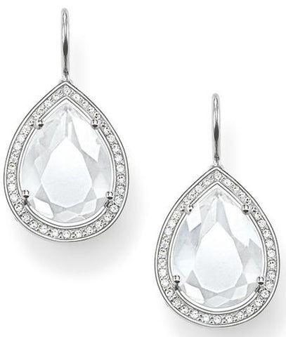 Thomas Sabo Earrings Glam & Soul White Zirconia Milky Quartz Silver D