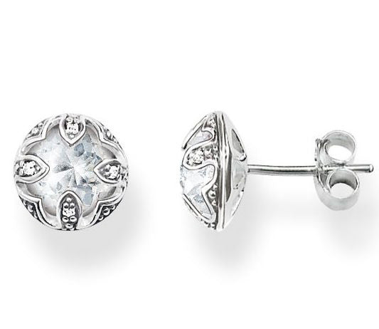 Thomas Sabo Earrings Glam & Soul Purity of Lotos Silver