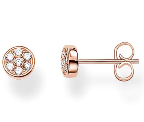 Thomas Sabo Earrings Glam & Soul Ear Studs Sparkling Circles Rose Gold