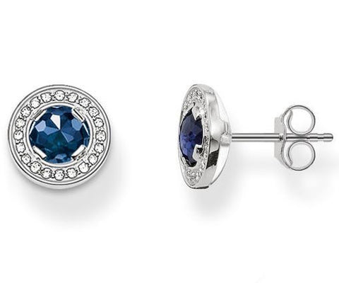 Thomas Sabo Earrings Glam & Soul Light of Luna Dark Blue Synthetic Corundum Silver