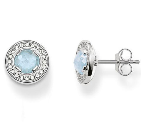 Thomas Sabo Earrings Glam & Soul Light of Luna Milky Aqua Silver