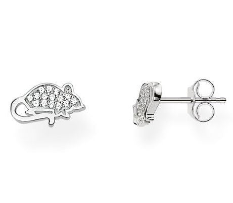 Thomas Sabo Earrings Glam & Soul Mouse Silver