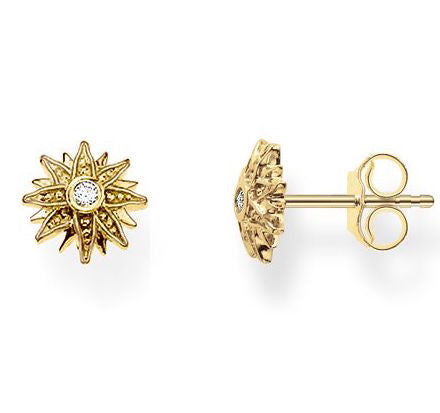 Thomas Sabo Earrings Glam & Soul Ear Studs Sun Yellow Gold