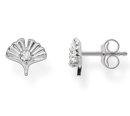 Thomas Sabo Earrings Glam & Soul Ear Studs Gingko Silver