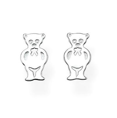 Thomas Sabo Earrings Glam & Soul Ear Studs Teddybear Silver