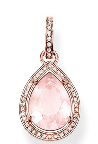 Thomas Sabo Pendant Glam & Soul Rose Quartz Drop Rose Gold