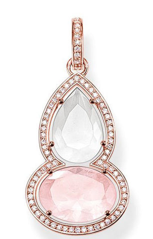 Thomas Sabo Pendant Glam & Soul Rose Quartz Maharani Rose Gold