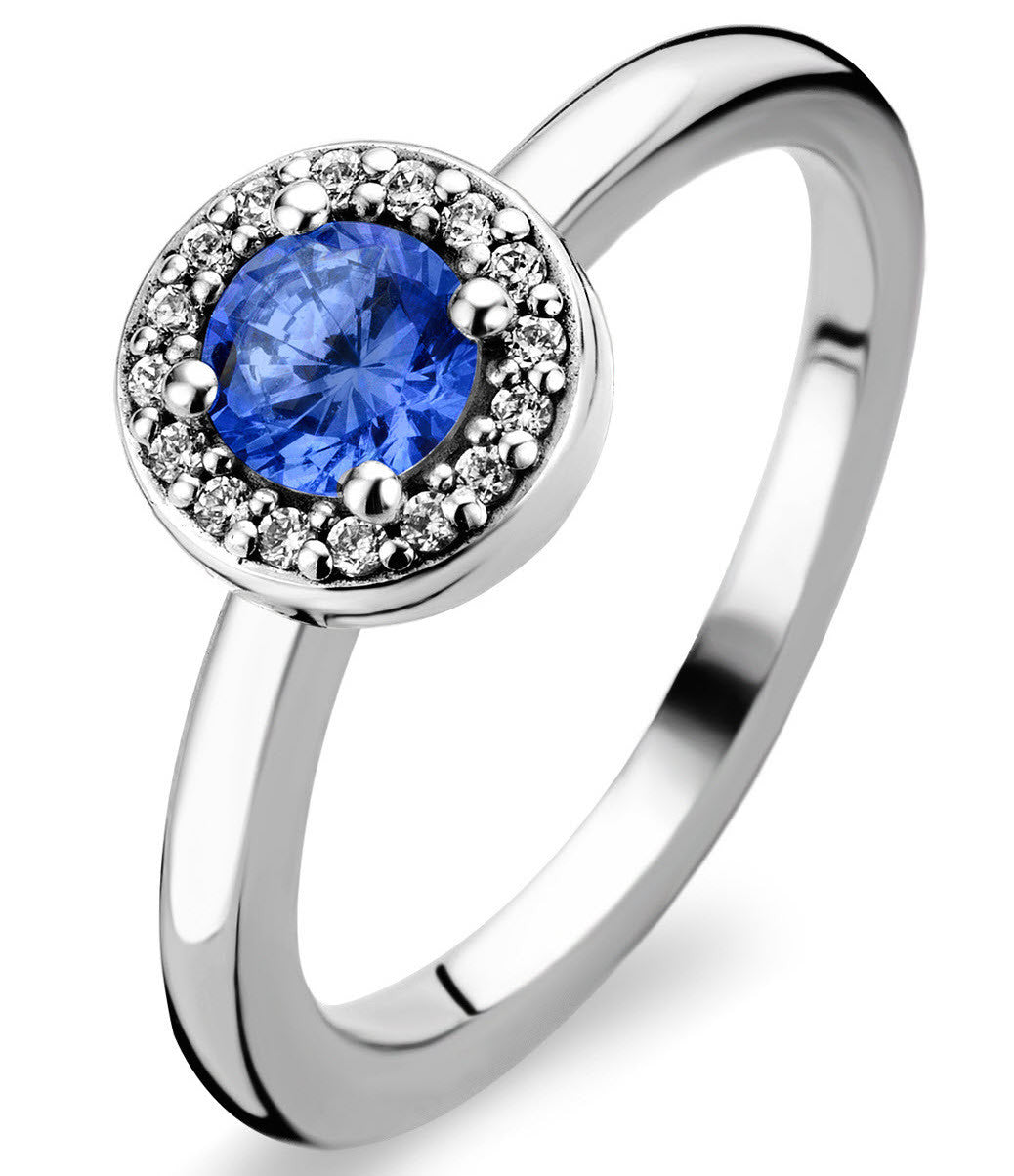 Ti Sento Ring Blue Crystal Rhodium