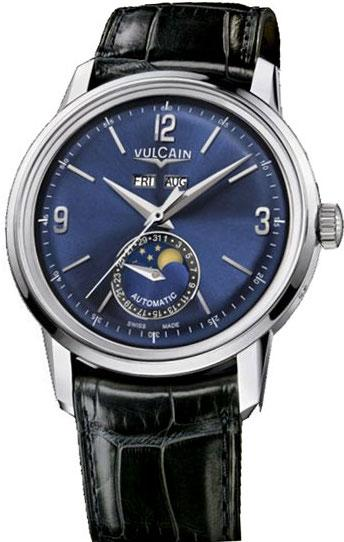 Vulcain Watch 50s Presidents Moonphase Blue 580158.329L