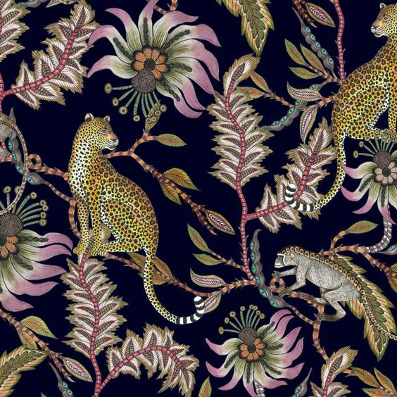 Ngala Trading Monkey Bean Night Fabric