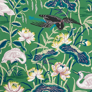 Schumacher Lotus Garden Wallcovering