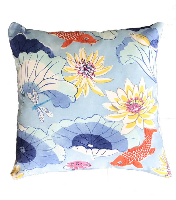 Koi Pond Indoor/Outdoor Pillow