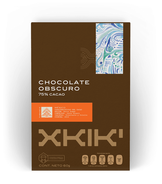 XKIK chocolate obscuro 75% cacao