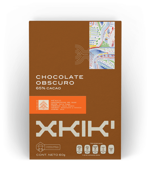 XKIK chocolate obscuro 65% cacao