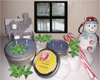 Frosty's Farts- Peppermint scented candle - 6 and 2 oz tins - Intuitive Clarity Candle Boutique
