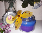 Butterfly Kisses - Fragrant Floral Scented 8 oz Jar Soy Candle - Intuitive Clarity Candle Boutique
