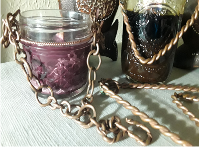 Hand-Braided Copper Chains and Lantern Handles - Intuitive Clarity Candle Boutique