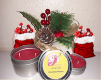 Christmas Wishes- Pine scented candle - 6 and 2 oz tins - Intuitive Clarity Candle Boutique