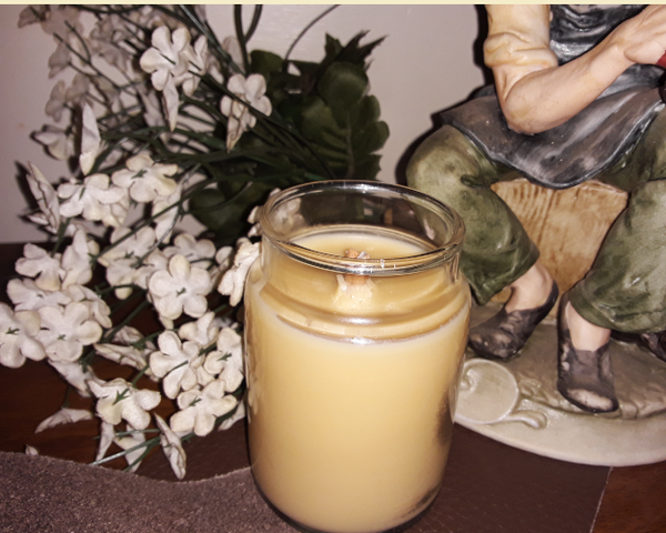 Gypsy Boots-Leather Scented Hand-Poured Soy Candle-Hybrid Wick - 4 oz Jar - Intuitive Clarity Candle Boutique