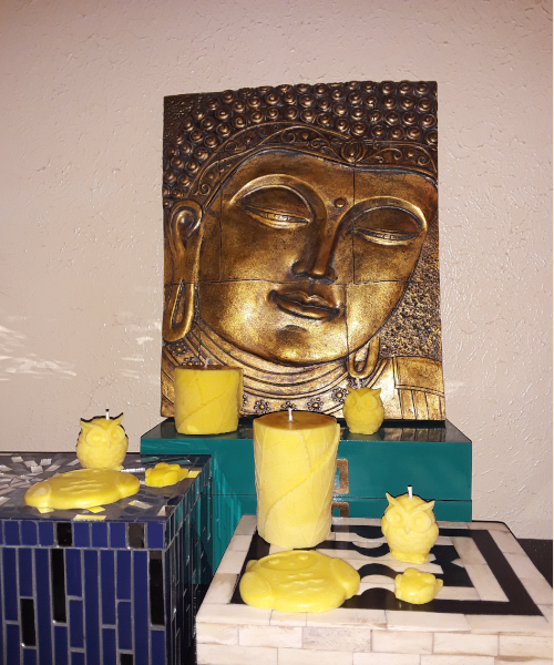 "Aromatherapy ""Happiness"" Soy/beeswax Candle Collection - Intuitive Clarity Candle Boutique"