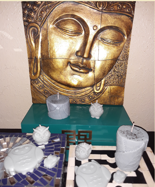"Aromatherapy ""Inner Peace"" Soy/beeswax Candle Collection - Intuitive Clarity Candle Boutique"