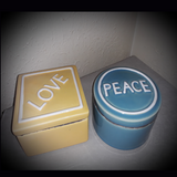 Richly Scented Soy Candle - Peace and Love Trinket Boxes - Intuitive Clarity Candle Boutique
