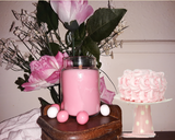 Pink Chiffon- Bubblegum Scented Soy Candle with Hybrid Wick 4 oz Jar Candle - Intuitive Clarity Candle Boutique