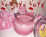 Smitten - Passion Fruit Scented Soy 8 oz Jar Candle - Intuitive Clarity Candle Boutique